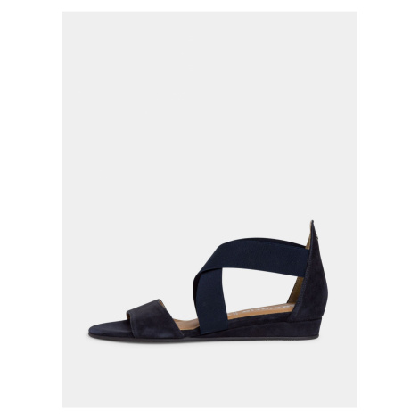 Tamaris modré semišové sandály