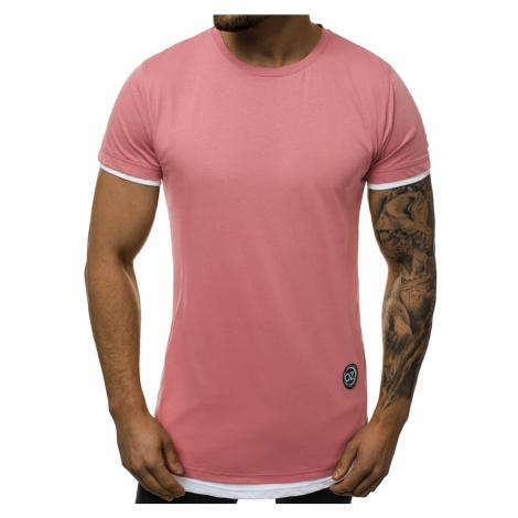 Ozonee Stylové světle růžové prodloužené tričko O/1261