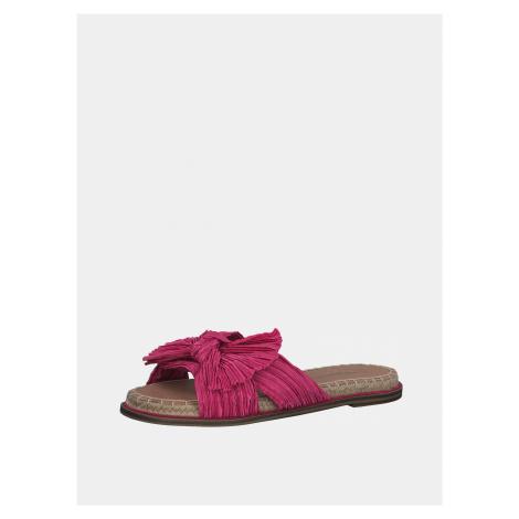 Růžové pantofle Tamaris