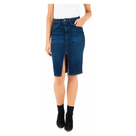 Guess GUESS dámská džínová sukně s rozparkem