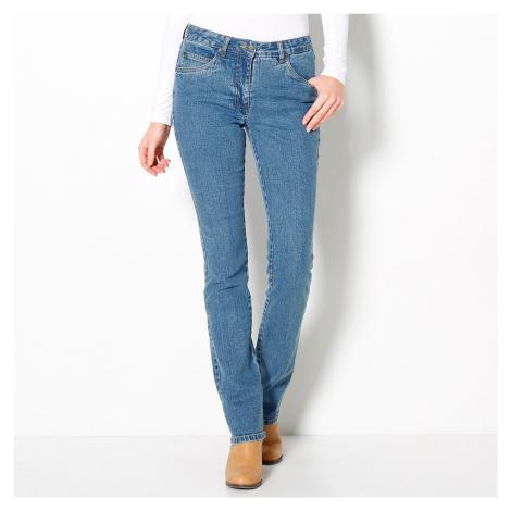 Blancheporte Rovné džíny, malá postava sepraná modrá