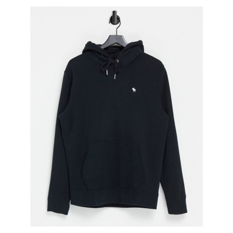 Abercrombie & Fitch icon logo hoodie in black
