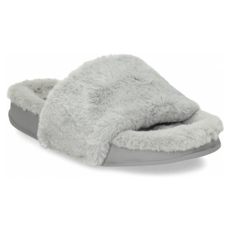 Šedé dámské chlupaté pantofle Baťa