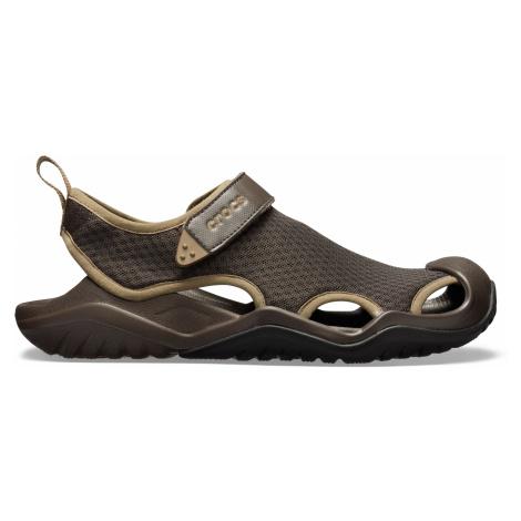 Crocs Swiftwater Mesh Deck Sandal M Espresso M9