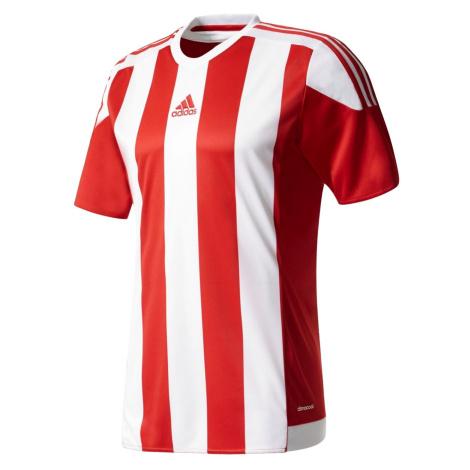 Dětský dres adidas Striped 15 Jersey Červená / Bílá