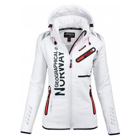 Luxusní značková dámská bunda GEOGRAPHICAL NORWAY s odepínatelnou kapucí Turbo-Dry Barva: Bílá