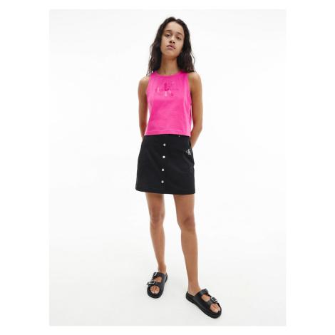 Calvin Klein Calvin Klein Jeans dámská černá sukně COTTON TWILL MINI SKIRT