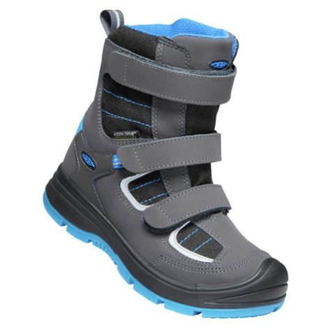 KEEN REDWOOD WINTER WP C Dětská zimní obuv 10007885KEN01 raven/magnet