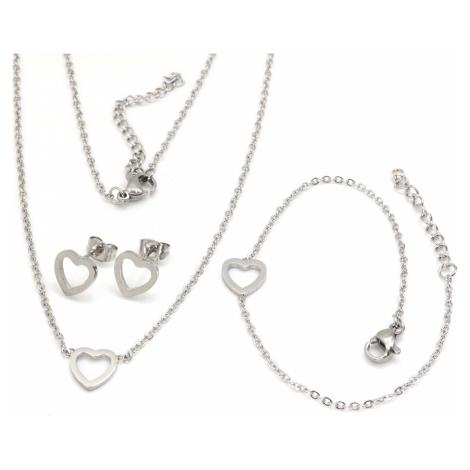 Linda's Jewelry Sada šperků Love chirurgická ocel IS029