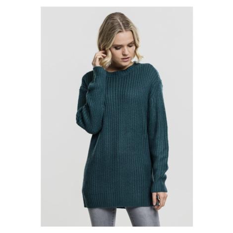 Ladies Basic Crew Sweater - teal Urban Classics