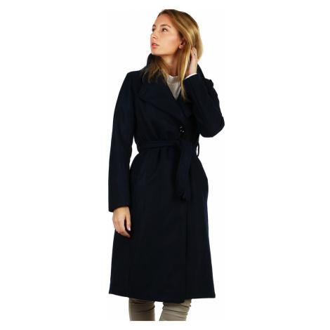 Dlouhý přechodný dámský kabát