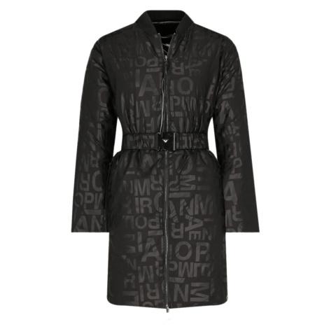 Černý oboustranný kabát - EMPORIO ARMANI