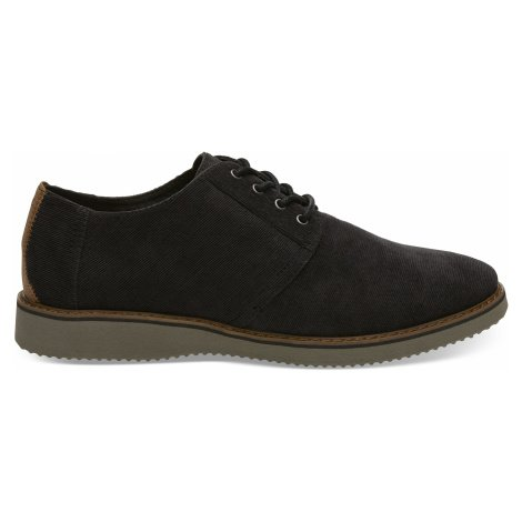 Black Micro Corduroy Men Preston Toms