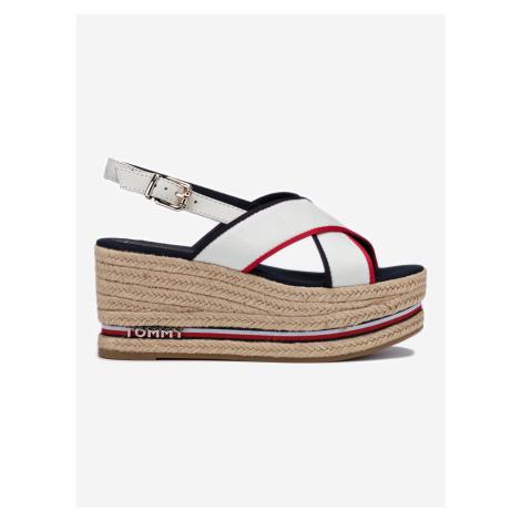 Klínová obuv Tommy Hilfiger Bílá