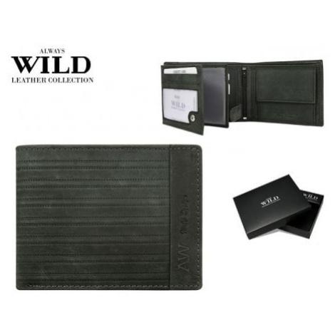 Wild Zajímavá černá pánská peněženka