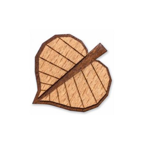 Dřevěná brož Tilia Brooch BeWooden