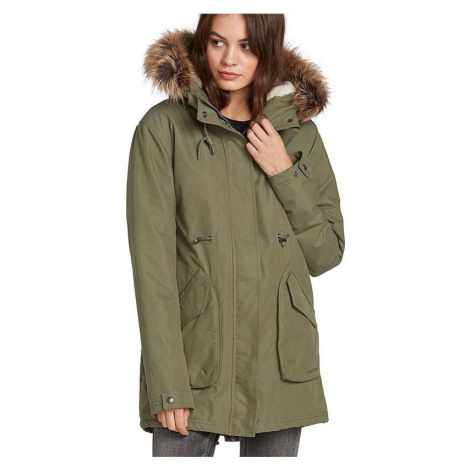 Bunda Volcom Less Is More Parka army green combo