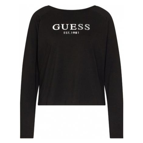 Guess tričko s dlouhým rukávem O0BI01 černé - Černá