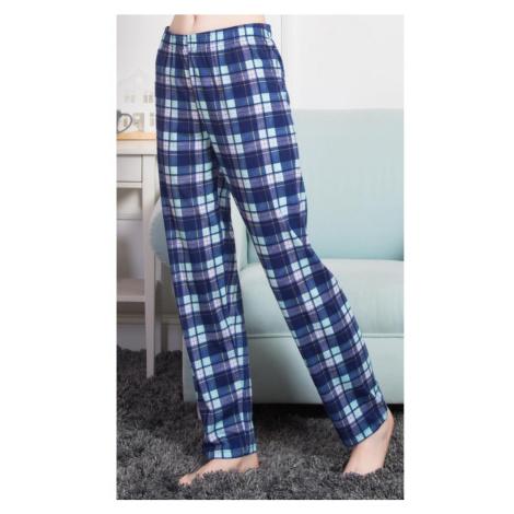 Dámské pyžamové kalhoty Beata, 4XL, tmavě modrá Vienetta Secret