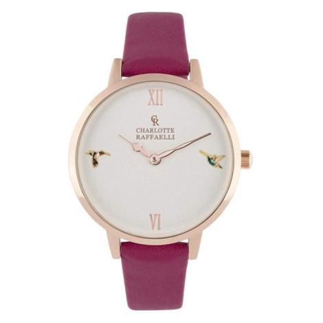 Fuchsiovo-zlaté hodinky CRS18011 Charlotte Raffaelli