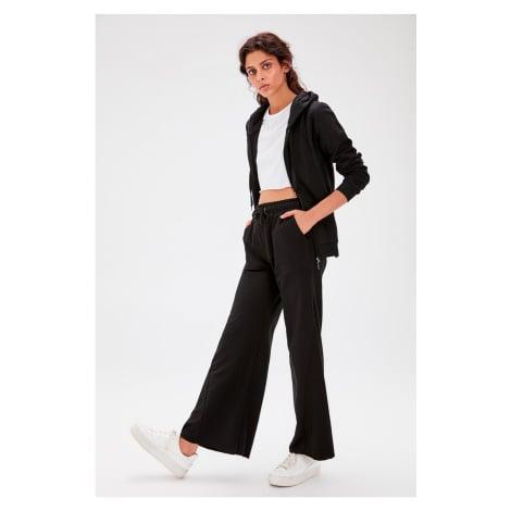 Trendyol Black Trousers Detailed Knitted Tracksuit bottom