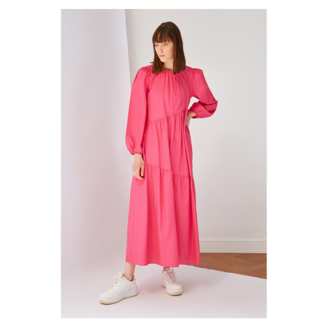 Trendyol Pink Cotton Poplin Dress