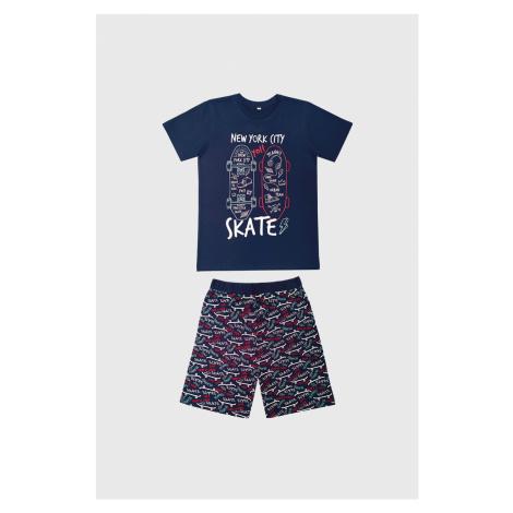 Chlapecké pyžamo Skate tmavě modré
