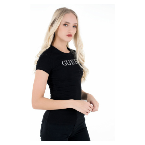 Guess GUESS dámské černé tričko MIRIANA