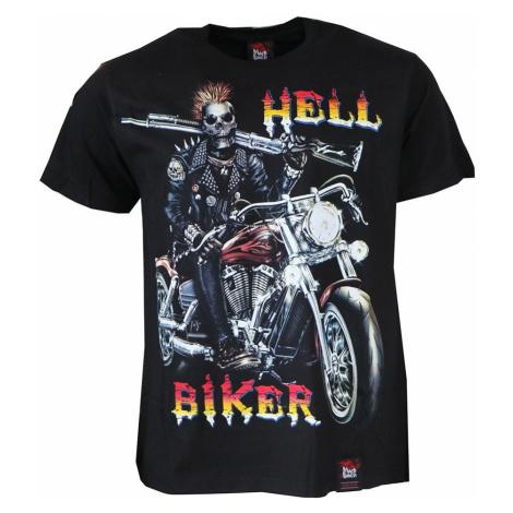 BLACK HEAVEN tričko pánské oboustranný potisk HELL BIKER BLACK HAVEN
