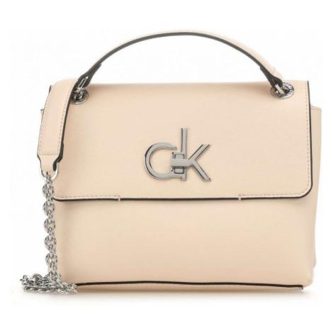 Calvin Klein Calvin Klein dámská béžová crossbody Re - Lock Conv Crossbody Md