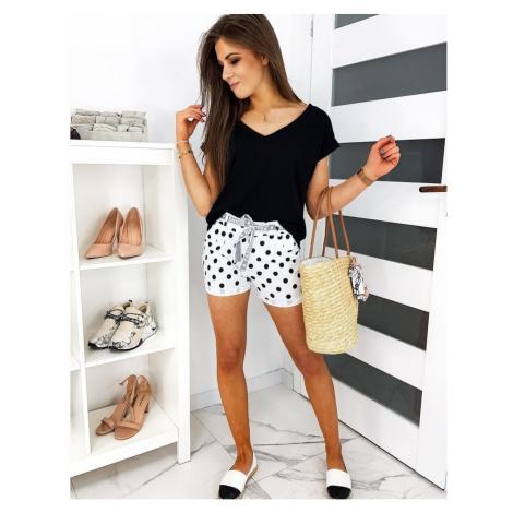 Women's shorts FASHION PIN UP white SY0140 DStreet