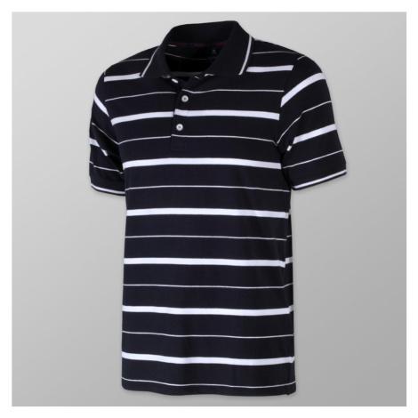 Pánské polo tričko s bílým pruhovaným vzorem 10809