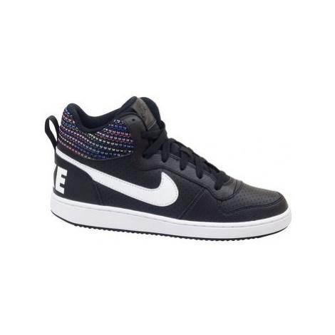 Nike Court Borough Mid SE GS Černá