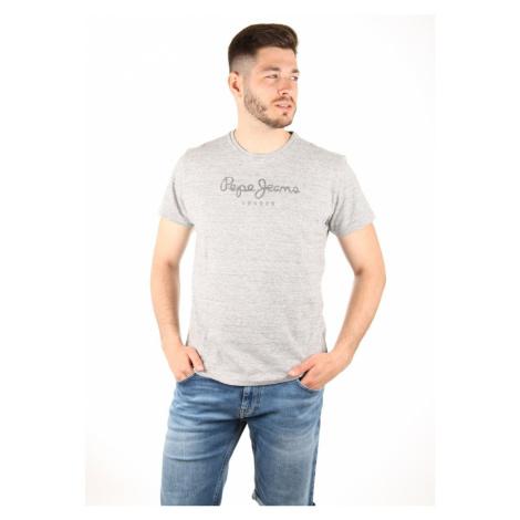 Pepe Jeans pánské šedé žíhané tričko