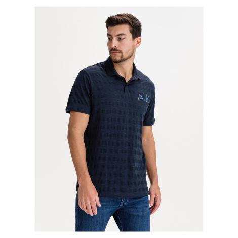 Polo triko Armani Exchange Modrá