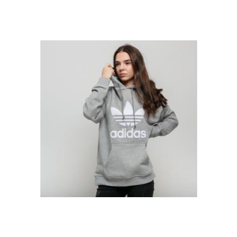 adidas Originals Trefoil Hoodie melange šedá / bílá