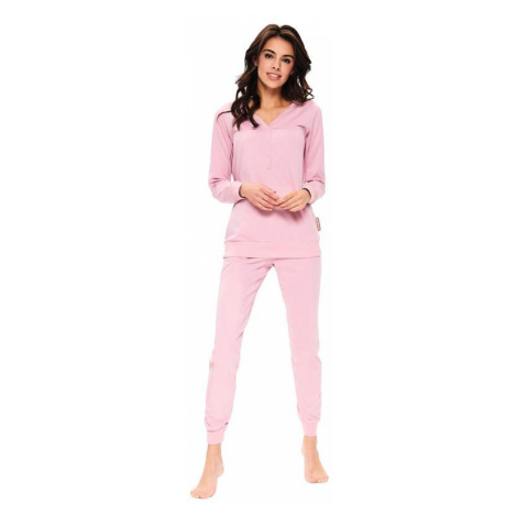 Dámské pyžamo Flamingo organic růžové