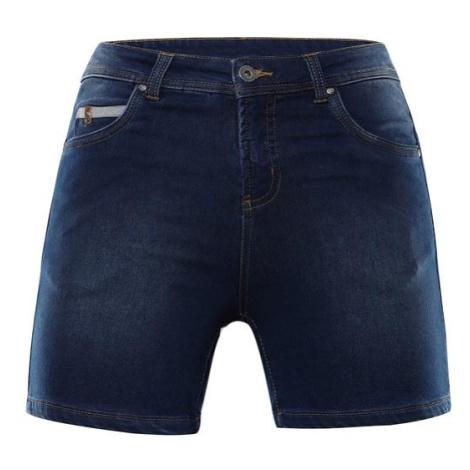Thasa modrá dámské džínové kraťasy ALPINE PRO