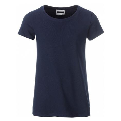 Klasické dívčí tričko z biobavlny 8007G James & Nicholson