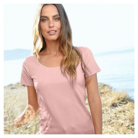Blancheporte Žebrované tričko růžová pudrová
