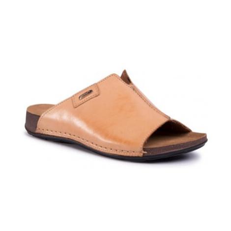 Pantofle GO SOFT WI21-CORSA-02 Přírodní kůže (useň) - Lícová