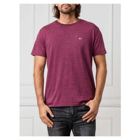 Tommy Jeans pánské fialové tričko Tommy Hilfiger