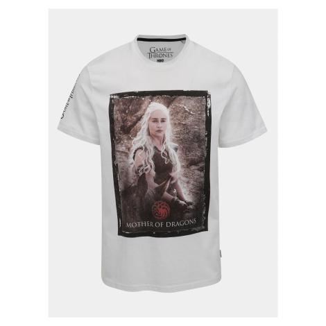 Bílé tričko ONLY & SONS Game of Thrones