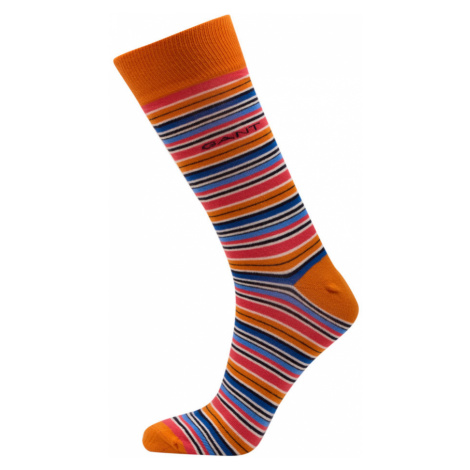 PONOŽKY GANT D1. MULTI STRIPE SOCKS 1- PACK