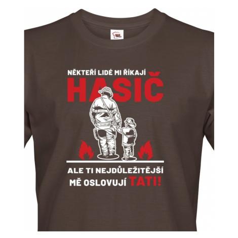 Pánské tričko pro tátu hasiče - ideální dárek pro novopečeného tatínka BezvaTriko