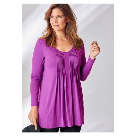 Blancheporte Tričko se sklady purpurová