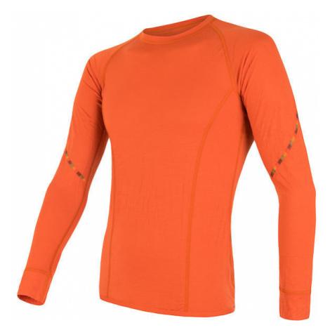 Pánské tričko SENSOR Merino Air dl. rukáv oranžová