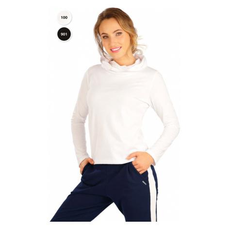 LITEX Tričko dámské s překříženou kapucí 5B279901 černá