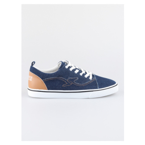 Boty Trussardi Sneakers Denim/Synthetic Leather Stitching Logo Modrá
