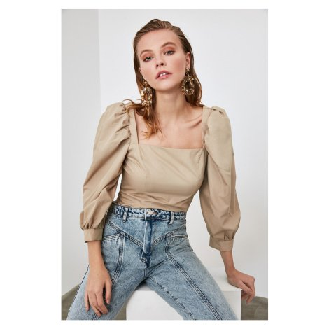 Trendyol Mink Balloon Sleeve Blouse